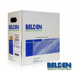 Cable Utp Belden Cat 5e 100% Cobre Color Blanco Envio Gratis