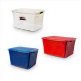 Caja Organizadora Apilable 42lts Colombraro Plastica