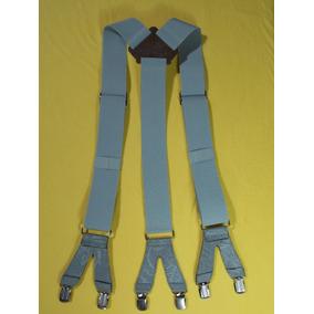 Tirador Pantalón Suspendes Doble Pinza Bronce Gris Clar 4cm