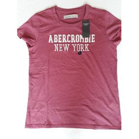 Playera Nueva Original Abercrombie&fitch Mujer S Vino