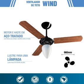 Ventilador De Teto Ventisol Wind Mogno - Compra Garantida