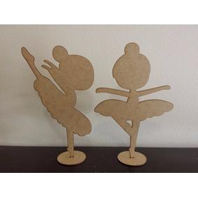 50 Bailarinas Mdf 25cm Infantil Lembrancinha Festa 15 Anos
