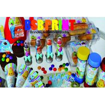 Kit Festa Infantil Personalizada C/ 120 Itens Todos Os Temas