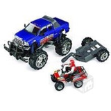 Fast Lane Rc 1:10 Ford F-350 With Atv On Trailer