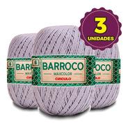 Barbante Barroco Maxcolor 400g N6 8212 Cromado Kit 3