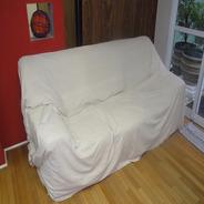 Manta Cru Natural Lençol Para Sofa Capa Cama 2,30m X 1,50m