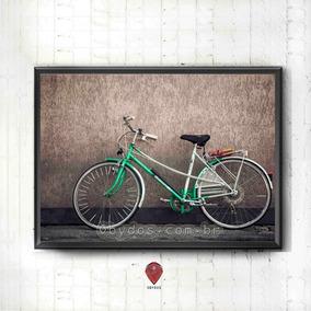 Bike Verde - Moldura/pôster/quadro