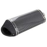 38mm De Fibra De Carbono Motos Universal Tubo De Escape Sil