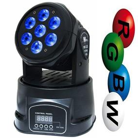 Mini Moving Head 7 Led X 12w Rgbw Bivolt Dmx Iluminação Dj