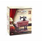 Maquina Coser Caja Musical Tipo Antigua 20cm Amor Y Amistad