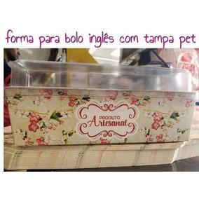 Embalagem Bolo Inglês Base / Tampa Pet- Com 50 Unidades