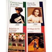 Paquete 4 Ana Frank Corazon Diario Niño Mago Oz 2e