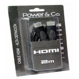 Cable Hdmi 2m Power & Co.-gris