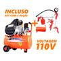 Compressor De Ar 2.5hp 25 Litros 8,7 Pés Vulcan 110v + Kit