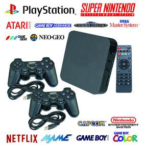 Tv Box + Emulador Retro Ps1 Snes Atari Arcade Neo Geo +64gb