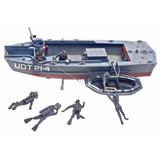 Revell Udt Boat With Frogmen 1:35 Barco Naval Plastic Kit