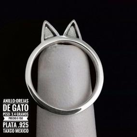 Anillo De Orejitas De Conejo De Plata 925 Taxco Mexico