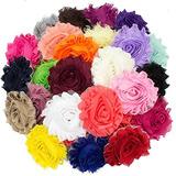 Jlika 50 Piezas Shabby Flowers - Chiffon