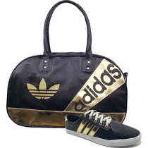 Kit Bag Bolsa Tenis Adidas Original Sapatilha Frete Gratis