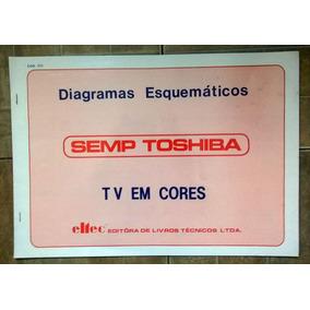 Esquemário Antigo Semp Toshiba Tv Em Cores Vários Modelos