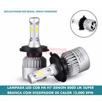 Lampada H4 H7 Led Cob Xenon Bridgelux Premium Super Branca