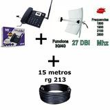 Kit Internet Rural 27dbi Tel. Bdf-12 Com Hi-fi E Android