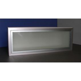 Alacena Puerta Aluminio Y Vidrio Esmerilado 80x30 Rebatible