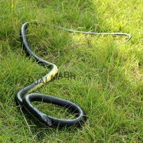 Cobra Preta Serpente Preta Realística Em Borracha