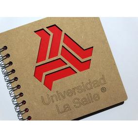 Libreta Madera Corte Láser Escudo Universidad La Salle