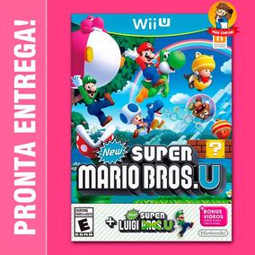New Super Mario Bros U Wii U Lacrado Pronta Entrega! Luigi U
