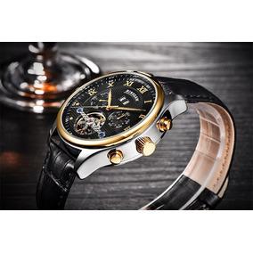 6dc00561511 Relógio Winner Automático Pulseira Em Couro. De Luxo Mormaii ...