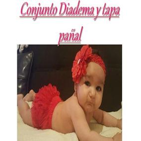 Conjunto Diadema Y Calzon Tapa Pañal Para Niñas Bebes