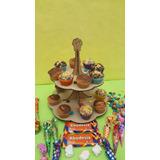 Porta Cupcake 2 Pisos Candy Bar Fibrofacil 12 A 18 Cupcake