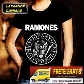 Camiseta Ramones Baby Look Feminina Banda Rock Punk Camisa