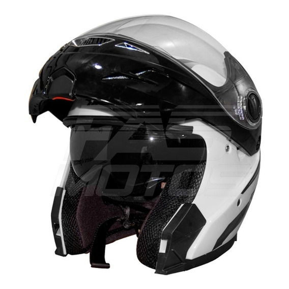 Kit Casco Rebatible Hawk Rs5 Vector Blanco O Ngr En Fasmotos