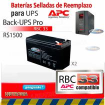 Pila Recargable Ups Apc Br 1500 Rbc33 Sellada Compatible