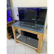 Aquário 390l Cristal Clear 1.20x50x65+ Base Caibro E Sump