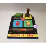 Torta Superhéroes - Vengadores - Cumpleaños - Eventos