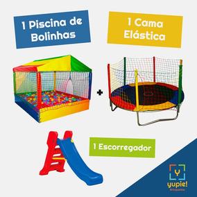 Piscina De Bolinhas, Cama Elástica E Escorregador P/ Locação