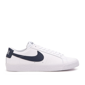 Zapatillas Nike Sb Mod Zoom Blazer Low Blanco Azul Cuero!!!