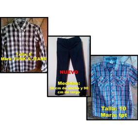 Ropa Camisas Niño Marca Epk, Tpt Y Otras. Talla 8, 10 Y 12