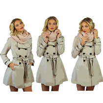 Piloto Impermeable Trench Vivos Negros Nuevo Mujer Nofret