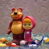 Kit Com 5 Bonecos Masha E O Urso+animais Bolo Decorar