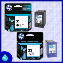 Combo Cartuchos Hp 21 Negro Cartucho Hp 22 Tricolor Original