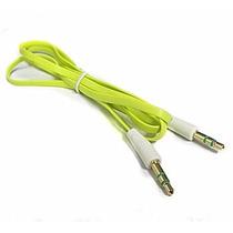 Paquete Con 10 Cables Auxiliares 3.5 Plano 1 Metro Estereo