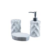 Conjunto Banheiro 727 Porcelana 3 Peças