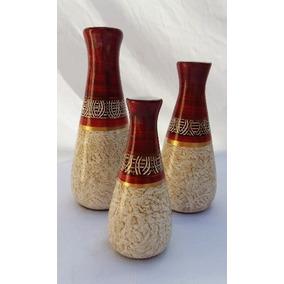 1 Trio De Vasos Decoração De Casa Ceramica Mega Promoção