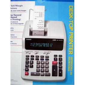 Calculadora De Mesa Casio Com Impressão Dr-120tm-we