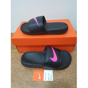 low priced f73bc fe22c Chanclas Sandalias Nike Dama Negro-fucsia Envio Gratis