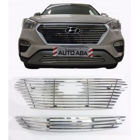Sobre Grade Inox Hyundai Creta 2017 2018 - Flat 2 Pç - Darta